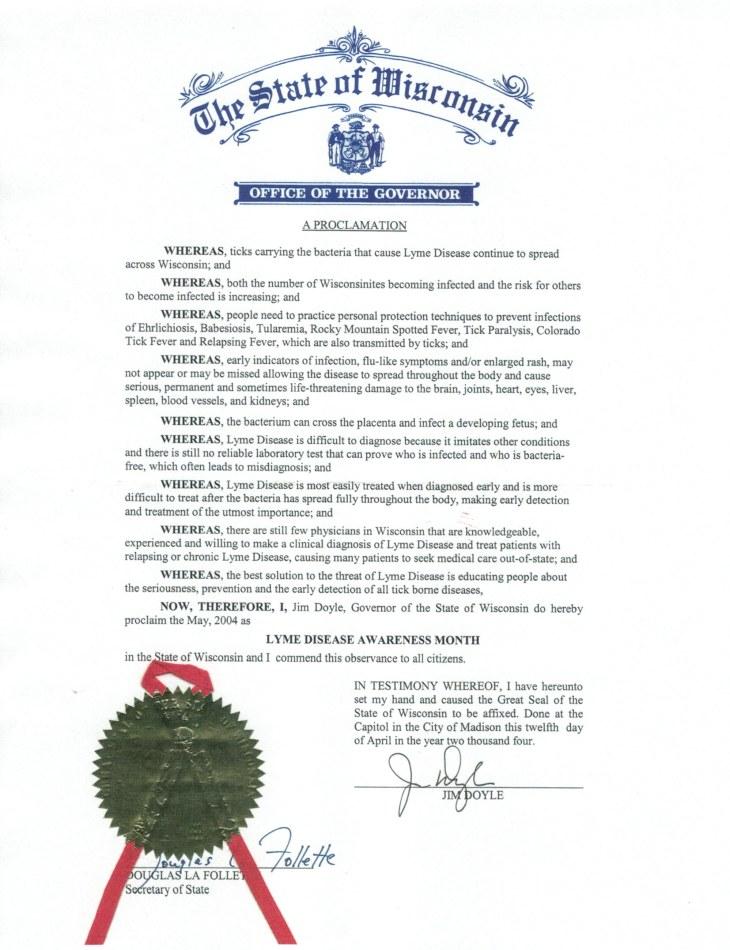 LYME Certificate